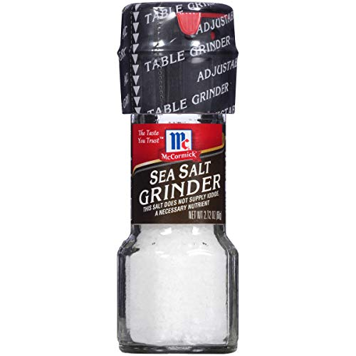 McCormick Sea Salt, 2.12 oz Table Grinder