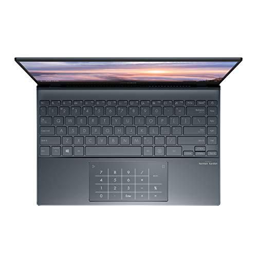 "ASUS ZenBook 13 Ultra-Slim Laptop 13.3"" FHD NanoEdge Bezel Display, Intel Core i5-1035G1, 8GB LPDDR4X RAM, 256GB PCIe SSD, NumberPad, Thunderbolt, Wi-Fi 6, Windows 10 Pro, Pine Grey, UX325JA-XB51"