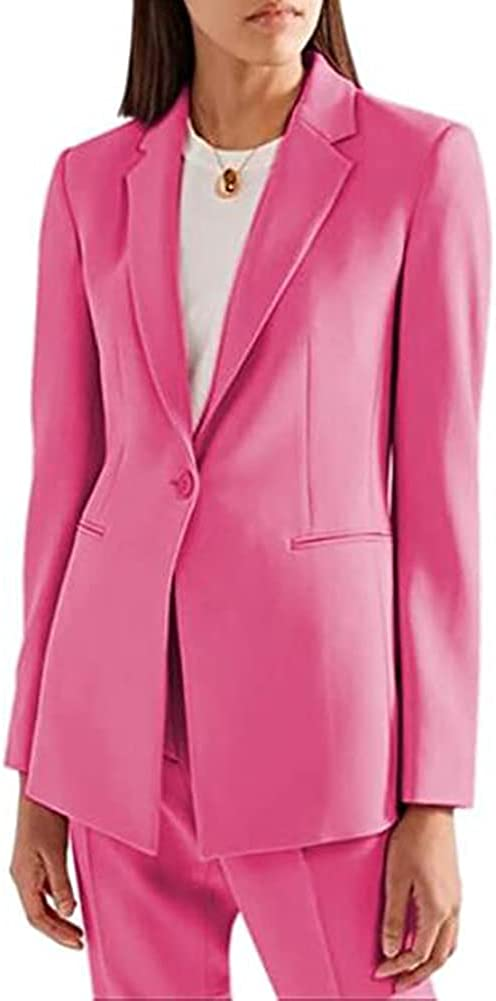 Women's Casual Suits Two Piece Work Pant Suit for Women Business Office Lady Suits Sets