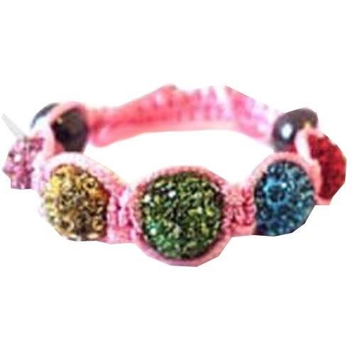 no1hairfactory Haarverlängerung, Black Rope - Red Balls, , Pink Rope - Multi Coloured Balls, Stück: 1