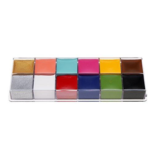 D DOLITY 12 Couleurs Palette Maquillage de Fête pour Enfants Non Toxique