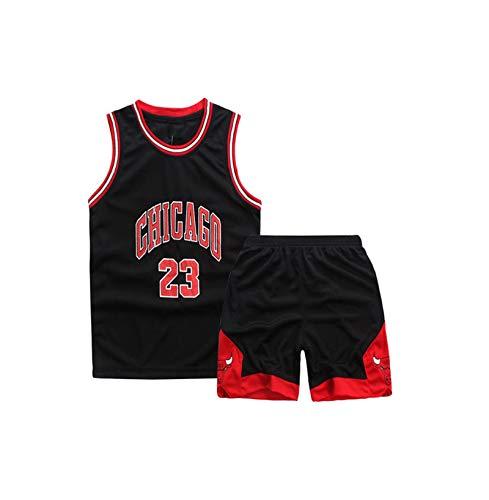 GBY Bulls 23# M.J Jordán Jerseys de Baloncesto, Uniforme de Baloncesto de Jordan, Malla Transpirable Colorido Swingman Sportswear Chaleco (XS-XL) Black-S