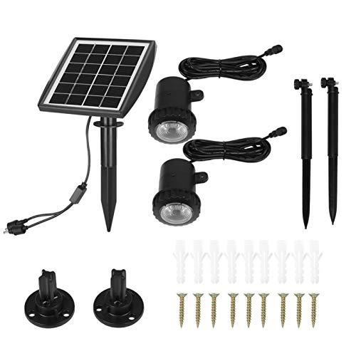 Luces solares al aire libre, IP65 a prueba de agua Focos de paisaje, Fácil de instalar Energía solar al aire libre Luz subacuática para acuario Pecera Jardín Entrada de coches Estanque de camino