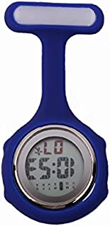Blue Multi-function Digital Silicone Nurse Doctor Gift Fob Pocket Watch