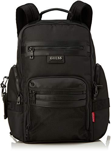 Guess Dan Multifunctional Backpack, MOCHILA para Hombre, Nero, METRO