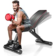 WEALLNERSSE Adjustable Folding Weight Bench - 7 Incline/Decline Positions, Foldable Workout Bench, Full Body Strength Training, Perfect for Home Gym