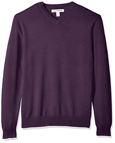 Amazon Essentials Men's V-Neck Sweater, Purple Heather, XX-Large