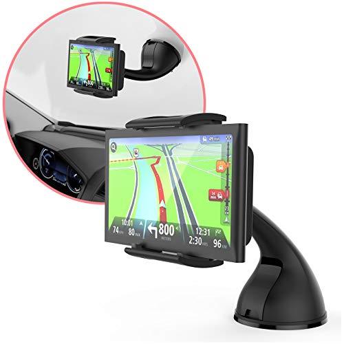 MONTOLA Navi Halterung kompatibel mit Tomtom, Garmin und Handy - KFZ-Halterung Saugnapf mit Kugelgelenk passend für jedes Auto