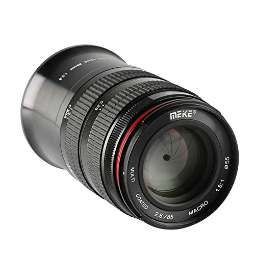 MEKE 85mm F2.8 Macro Full Frame Manual Focus Medium Telephoto Lens Compatible with...