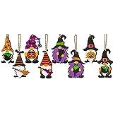 Ganghuo 8 piezas de elfo de madera pequeño colgante con cuerda...