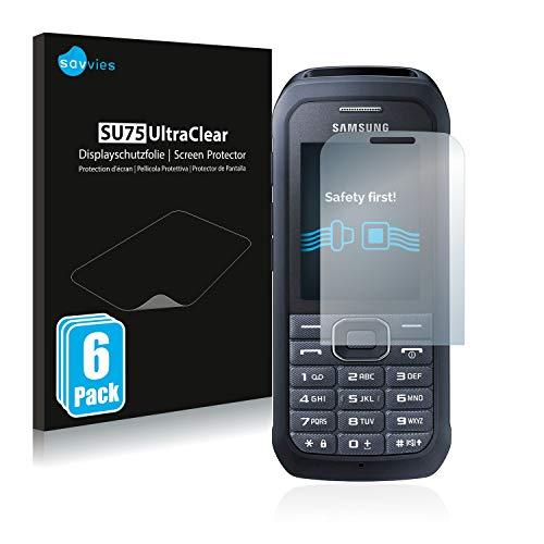 Savvies 6X Schutzfolie kompatibel mit Samsung Xcover 550 Bildschirmschutz-Folie Ultra-transparent
