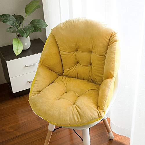 TAIJUN Cojín acolchado de felpa rodeado de cojín para reposabrazos, cojín de sofá, cojín antideslizante, cojín de jardín, silla de oficina, comedor, dormitorio, exterior, color amarillo