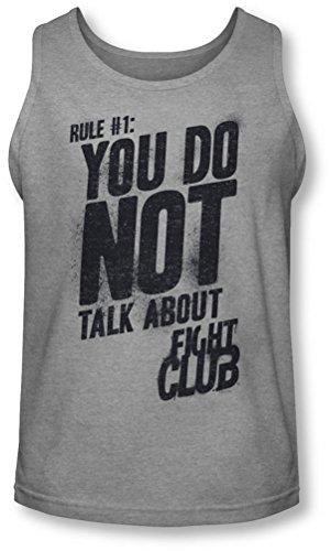 Fight Club - - Règle 1 Débardeur Homme, Large, Athletic Heather