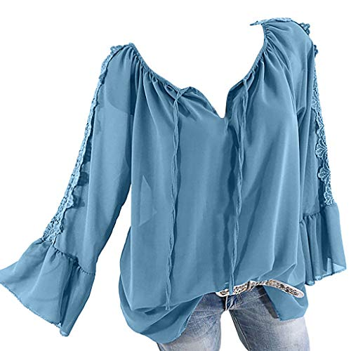 BOLANQ Damen 3/4 Ärmel Shirt Hemd Casual Bluse Einfarbig Oberteil Hemdbluse Damenbluse Shirtbluse Baumwolle