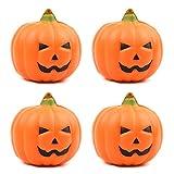 Kansoo 4Pcs Slow Rebound Squishies Artificial Fruit Fake Pumpkins Halloween House Party Decoration (Orange)