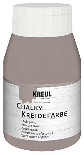 Kreul Chalky 75121 - Pintura a la tiza, suave moca, botella de plástico de 500 ml, suave, color mate, opaca, secado rápido, para efectos de aspecto desgastado