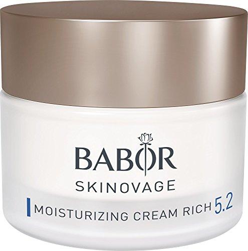 BABOR SKINOVAGE Moisturizing Cream rich, reichhaltige Gesichtspflegecreme für trockene und lipidarme Haut, Wasser-Öl Kombination, 50ml