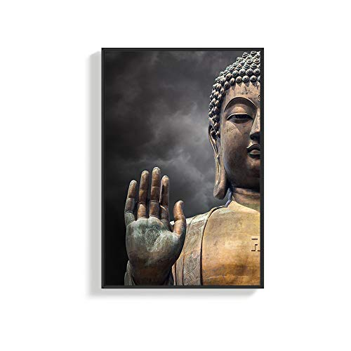 NWT Framed Canvas Wall Art for Living Room, Bedroom Buddha Canvas Prints for Home Decoration Ready to Hanging - 16x24 inches