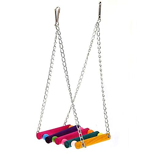 tianxiangjjeu kleurrijke houten vogel opknoping schommel speelgoed voor papegaai parkiet Budgie kakatiel