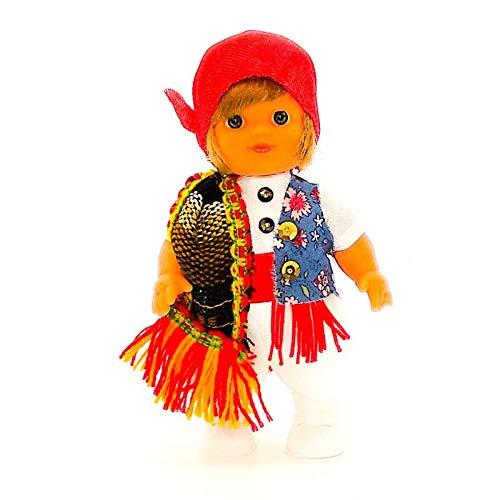 Folk Artesanía Muñeco Regional colección de 15 cm con Vestido típico Fallero...