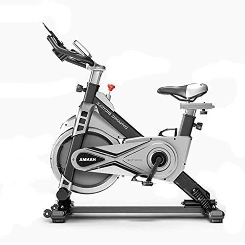 Bicicleta de ejercicio profesional para interiores - Sistema de absorción de choque auxiliar - Pantalla multifunción inteligente - Volante silencioso de dos vías, bicicleta deportiva para el hogar