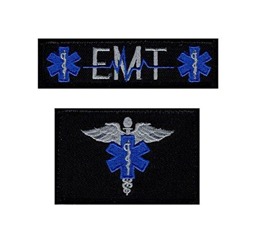 "EMT EMS Paramedic Medic Patch [2PC - ""Velcro Brand"" Fastener-Miltacusa]"
