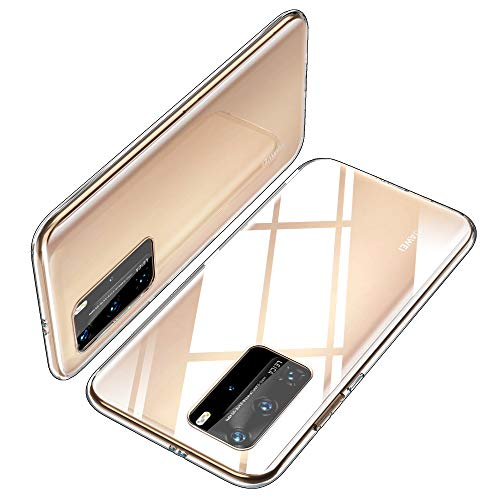 Capa TPU iBetter Slim Slim para Huawei P40 PRO, Capa de Silicone Transparente à Prova de Choque, para Smartphone Huawei P40 PRO.