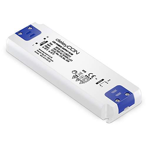 deleyCON 12V LED Transformador Adaptador Slim 0-30W 200-240V a 12V DC LED Lámparas Cintas de Luz G4 MR11 MR16 Luces Sobrecarga Sobrecalentamiento Cortocircuito