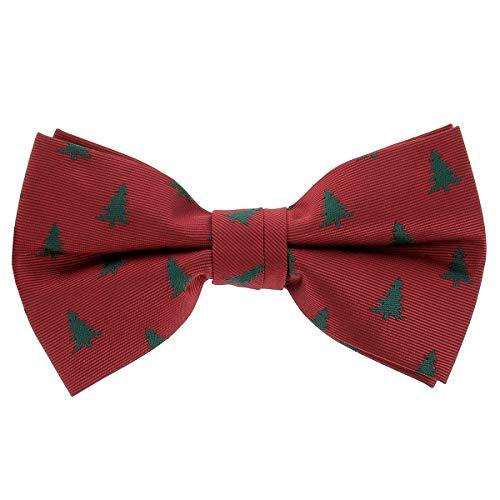 cravateSlim Weihnachten Fliege Tannenbaum Rot und Grün