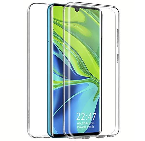 PLANETMOVIL Funda 360 Compatible con [[ Xiaomi Mi Note 10 / MI NOTE10 Pro ]] Carcasa Doble Cara 360 de Silicona Delantera + Trasera TPU rigido Doble 100% Transparente Enteriza y Completa