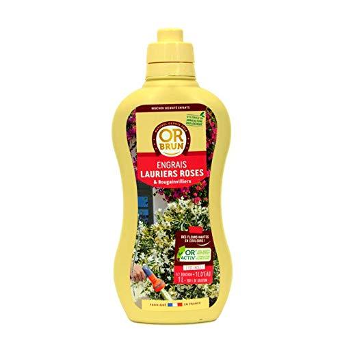 Engrais liquides lauriers Roses et bougainvilliers Or Brun, 1 Litre UAB