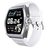 Smart Watch, Full Touch Screen Intelligente Ip68 Impermeabile Bassa Potenza Monitoraggio Del Sonno Chiamata Promemoria, Adatto per Business Adulti e Anziani Moda Persone (Colore: Rosso Vulcanico)