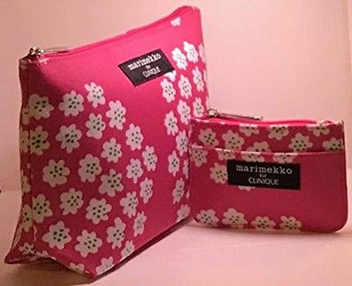 Pink Clinique Makeup Bag Set