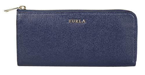 FURLA 921782 - Portafogli Babylon XL, con chiusura a zip, in pelle, blu, misura ca. 19,5 x 9,5 x 2,5 cm (L x A x P).
