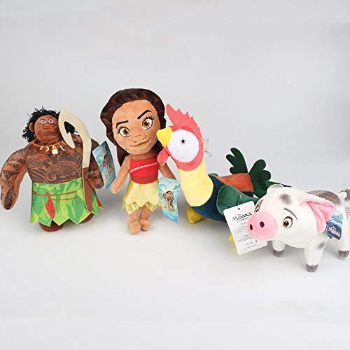 4 Stück / Set 20 cm Moana Vaiana Huhn & Schwein Pua Plüschpuppen Prinzessin Spielzeug Weiche Kuscheltiere Puppe Kinder Baby Spielzeug Geschenke
