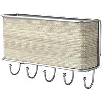 Colgador de cartas y llaves de pared | Organizador de llaves y correspondencia | Soporte para llaves de madera | Colgador de llaves | Fijaciones incluidas | M&W