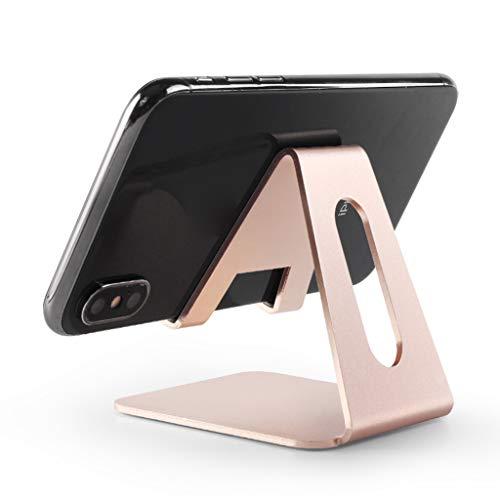 Hothap - desktop mobiele telefoon standaard houder aluminium cradle Mount voor mobiele telefoon tablet Wie gezeigt goud