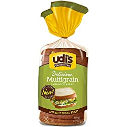 Udi's Gluten Free Multigrain Sandwich Bread, Sliced, 24 oz (Frozen)