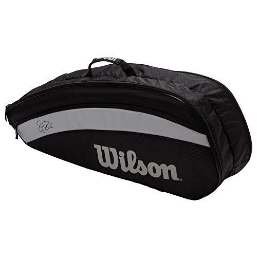 Wilson(ウイルソン) テニス バドミントン ラケットバッグ FEDERER TEAM 6 PACK (フェデラー チーム 6パック) WR8005701001 BLACK ラケット6本収納可能 ウィルソン