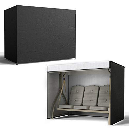 YChoice365 Funda para silla de columpio de 3 plazas, protector de muebles de jardín al aire libre, resistente a la intemperie, 220 x 125 x 170 cm, color negro