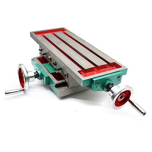 Kreuztisch - Multifunktions-Fräs-Arbeitstisch Fräsmaschine Composite-Bohrtisch Koordinatentisch Bohrtisch Werkzeugmaschinen(X-Route: 230 mm,Y-Route: 110 mm)