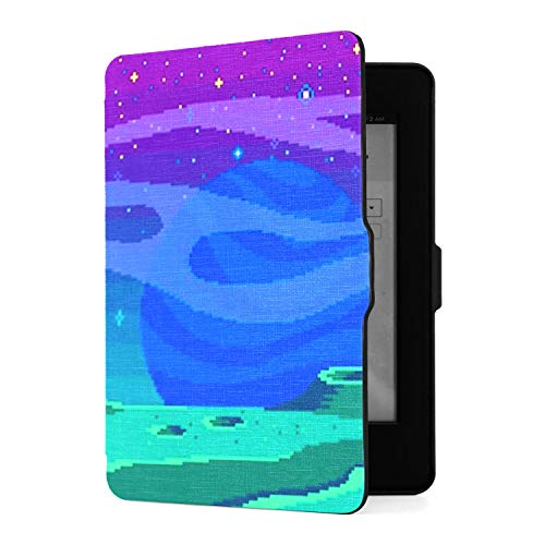 Kindle Paperwhite 1 2 3 Case, Pixel Art Game Location Cosmic Areasomeone Pu Leather Case Cover with Smart Auto Wake Sleep for Amazon Kindle Paperwhite(fits 2012, 2013, 2015 Versions -  CHNEGYX, XM-4012-2020812-4978