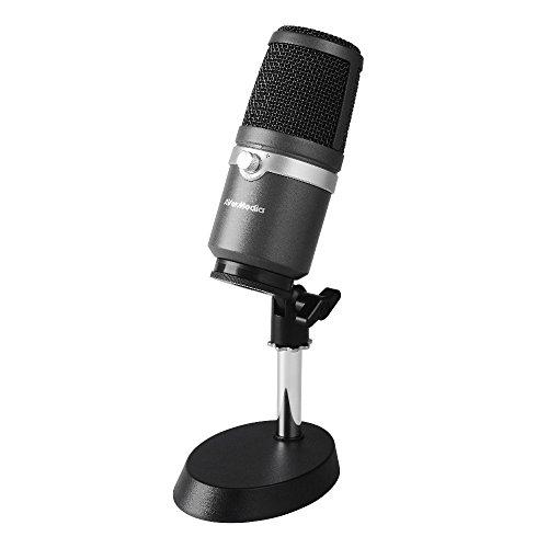 AVerMedia USBマイクロホン AM310 [ゲーム実況/ライブ動画配信 高音質の配信/録音に向いているコンデンサー...