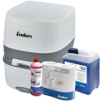 Enders WC Chimique Portable - Kit de démarrage Blue 2,5 Supreme avec Produit additif et Papier hygiénique - Toilette Chimique