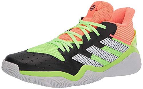 Tênis de basquete Adidas Harden Stepback, masculino, Core Black/Signal Coral/Dash Grey, 10.5