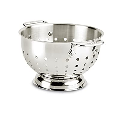 All-Clad 5603C Stainless Steel Dishwasher Safe Colander Kitchen Accessory, 3-Quart, Silver
