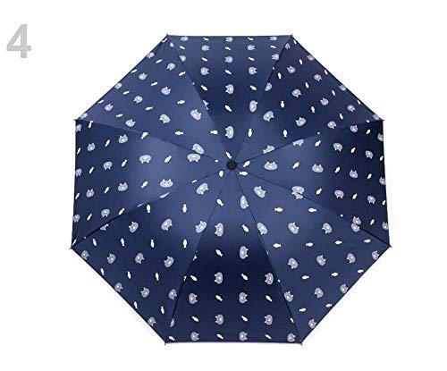 1stück Berliner Blau Damen/Mädchen Regenschirm Faltbar Katze, Faltbare Regenschirme, Und Regenjacken, Modisches Zubehör