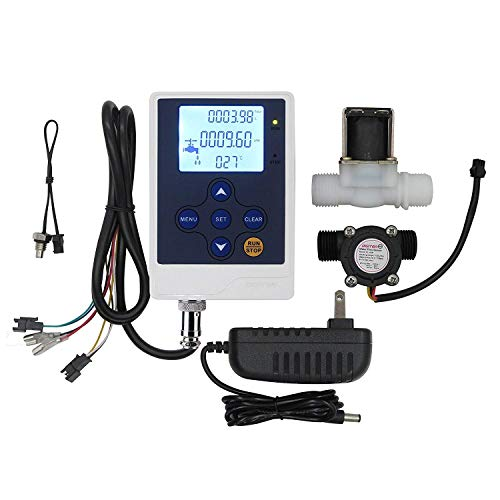 DIGITEN Water Flow Control Meter LCD Display Controller+G1/2