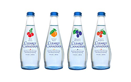 flavored waters Clearly Canadian Sparkling Flavored Water (4 Flavor Sampler, 4 Pack Sampler)
