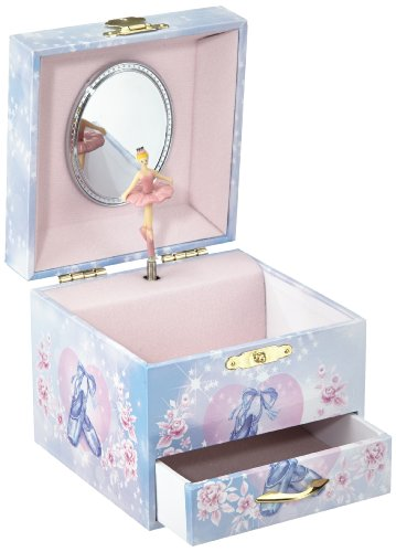 Musicboxworld speeldoos sieradendoos Ballerina met lade 28054